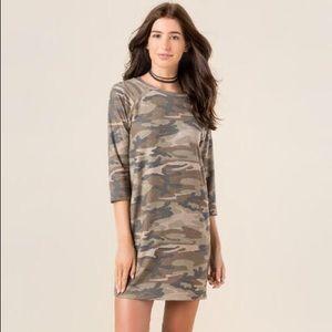 Camo Shift Dress
